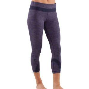 Lululemon Run: Inspire Crop II Leggings in Purple